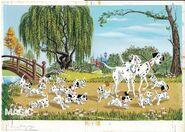101 Dalmatians storybook cover art