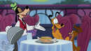Goofy sirve Pluto&Dinah