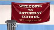 Saturday school banner