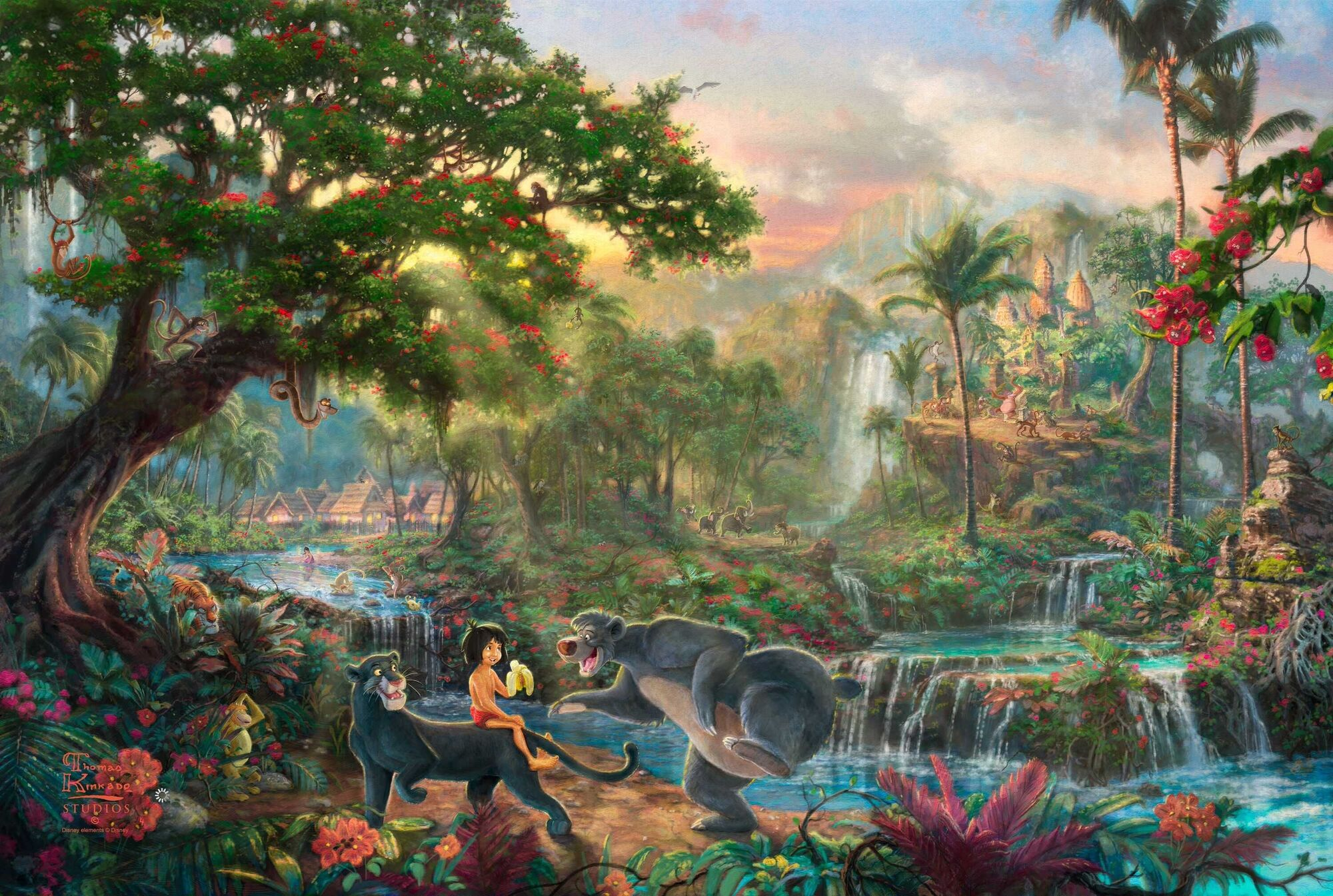 Aliexpress.com : Buy Prints For Sale Thomas Kinkade The Jungle ...