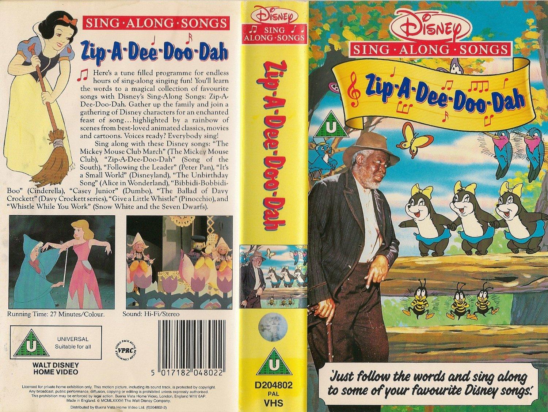 Image Zip A Dee Doo Dah Uk Vhs Cover Jpg Disney Wiki