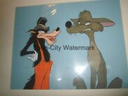Big Bad Wolf and Coyote cel