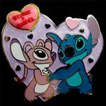 Disney Stitch in Love - Cherishes Angel HKDL Heart Shaped Free-D Pin