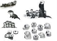Finding Dory Otters Concept Art