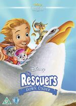 The Rescuers Down Under UK DVD 2014 Limited Edition slip cover