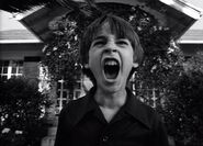 Kid from Frankenweenie screaming