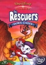 The Rescuers Down Under 2002 UK DVD