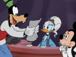 Goofy showing Minnie and Daisy his e-mail