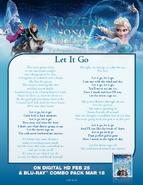 Let it Go Lyrics Sheet