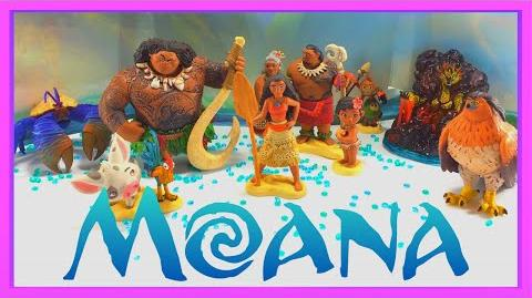 Disney Moana Deluxe Figurine Playset Collection Disney Store Toy Review Moana