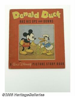 Donald duck has his ups and downs