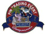 DLP - Gourmet Pin Trading Event - Stitch & Angel Blue Lagoon - Jumbo