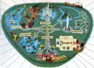 1956 Disneyland Map