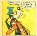 Goofy laughing comic