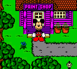 Mickey's Racing Adventure Mickey at the Print Shop