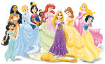 Disney Princesses Wearing Tiaras