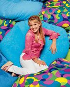 Lizzie McGuire with bean bags