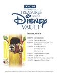 Treasures from The Disney Vault Schedule