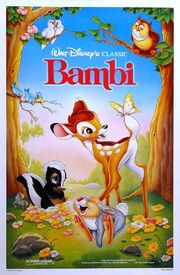 Bambi 1989 Re-Release Poster