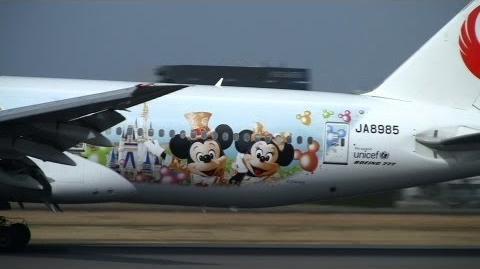 "JAL Boeing 777-246 JA8985 ""Happiness Express"" Tokyo Disney Resort 30th"