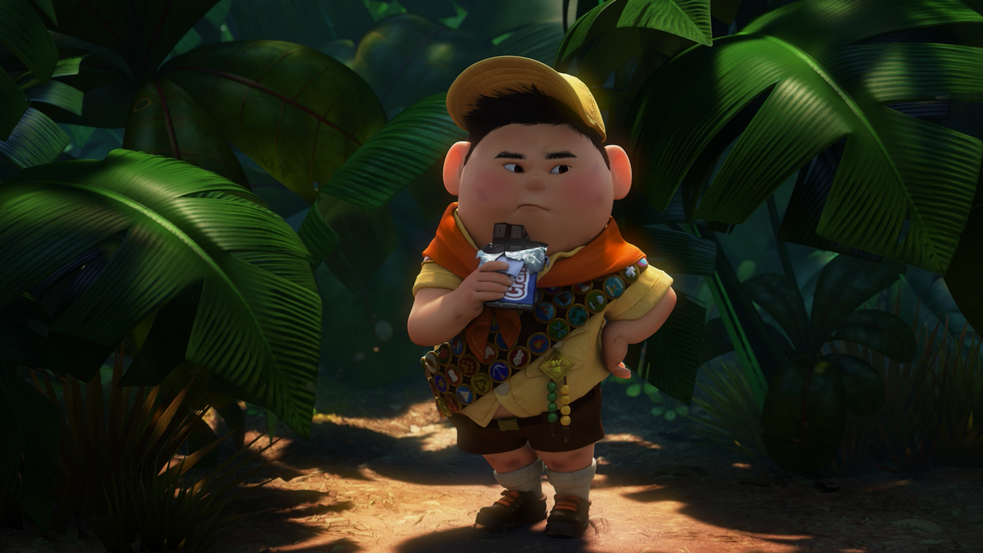 Image - Russell-chocolate-Up.png | Disney Wiki | Fandom
