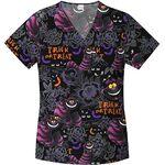 Cheshire cat scrub top black