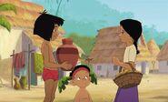 Mowgli is going to give Shanti her water jug