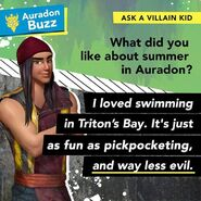 I loved swimming in Triton's Bay