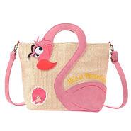Flamingo and hedgehog tote bag