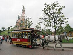 Horse Tram at Disneyland Paris 101