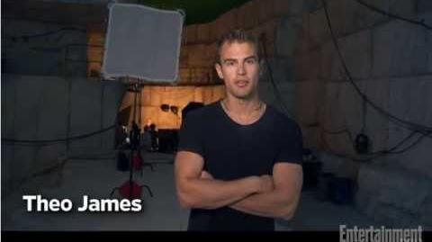 Divergent Behind the Scenes - Theo James and Shailene Woodley - Entertainment Weekly
