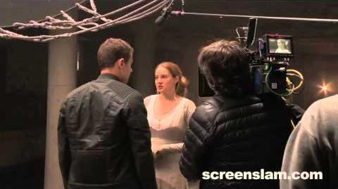 Divergent Theo James on Four and Tris Relationship (Exclusive Behind the Scene Featurette)
