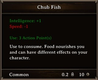 DOS Items Food Chub Fish Stats