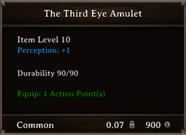 DOS Items CFTX 10.5 The Third Eye Amulet