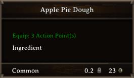 DOS Items FnD Apple Pie Dough