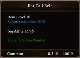 DOS Items CFTX 10.5 Rat Tail Belt