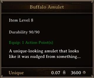 DOS Items Unique Buffalo Amulet Stats