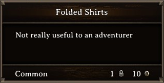DOS Items Misc Folded Shirts Stats