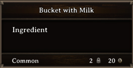 DOS Items CFT Bucket with Milk