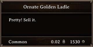 DOS Items Precious Ornate Golden Ladle Stats