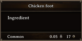 DOS Items CFT Chicken foot