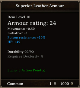 DOS Items CFTX 10.5 Superior Leather Armour