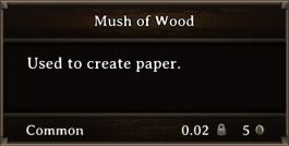 DOS Items CFT Mush of Wood