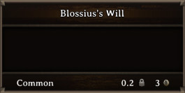 DOS Items Quest Blossius's Will
