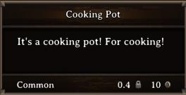 DOS Items Tools Cooking Pot
