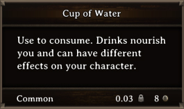DOS Items FnD Cup of Water