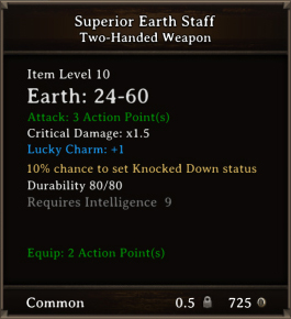 DOS Items CFTX 10.5 Superior Earth Staff