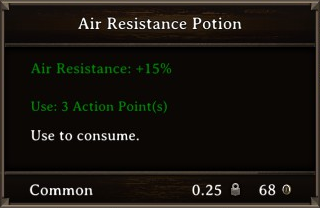 DOS Items Pots Air Resistance Potion 1 Stats