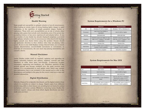 DOS Game Manual Page 5
