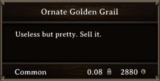 DOS Items Precious Ornate Golden Grail Stats